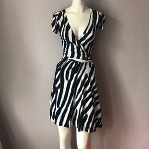 Diane Von Furstenberg Wrap Stretch Dress